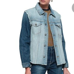 FRAME two tone denim Jacket